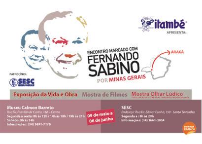 Araxá recebe a exposição Encontro Marcado com Fernando Sabino