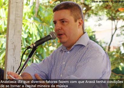 Governador anuncia criação de festival de música em Araxá