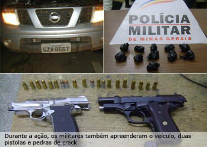 Operação da PM termina com prisão de pessoas com armas e drogas