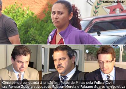 Fim da novela: Kênia Cristina é presa pela morte do ex-marido