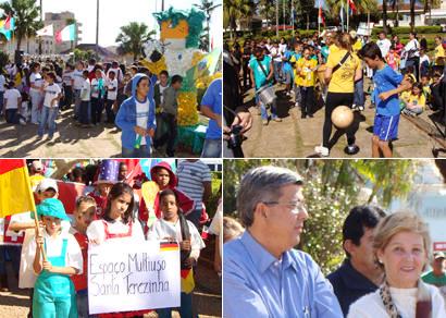 Praça Governador Valadares recebe abertura da Copa do Mundo