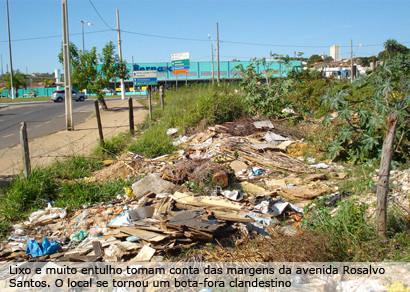 Depósito irregular de entulhos é um dos principais problemas ambientais