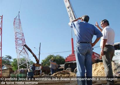 No clima da Copa, bairro Boa Vista ganha a tão esperada torre de TV aberta