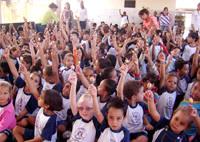 Sesc Araxá proporciona conhecimento às crianças pelas Trilhas da Cultura