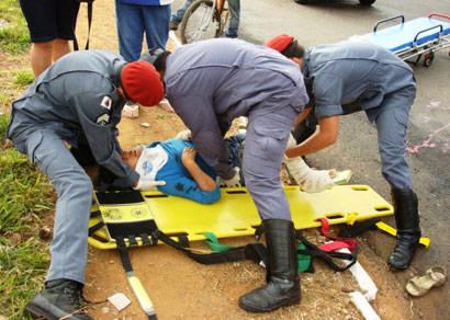 Mulher é atropelada no bairro Boa Vista