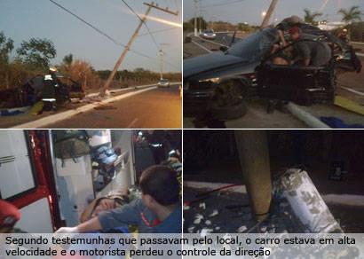 Jovem morre em acidente na avenida Ministro Olavo Drummond