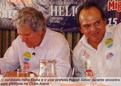 Hélio Costa faz campanha em Araxá e fala sobre projetos para a região