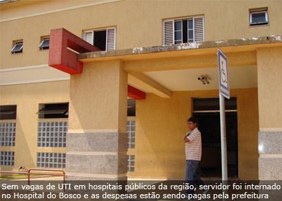 Servidor da prefeitura sofre acidente de trabalho e está na UTI