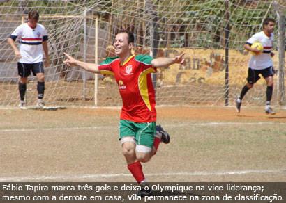 Fábio Tapira faz três na goleada do Olympique