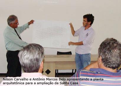 Investimento para ampliação da Santa Casa é apresentado aos vereadores