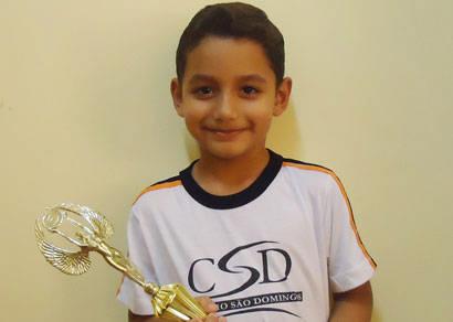 Com apenas 5 anos, enxadrista do CSD é campeão em Monte Carmelo