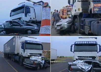 Acidente na BR-262 entre Araxá e Uberaba mata quatro pessoas