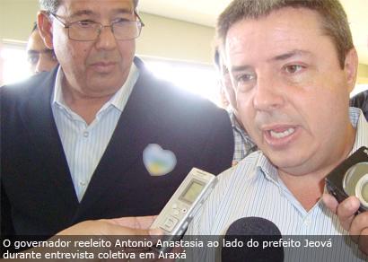 Anastasia garante que Araxá terá representatividade no governo do Estado