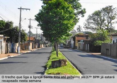 Avenida Ananias Teixeira é recapeada