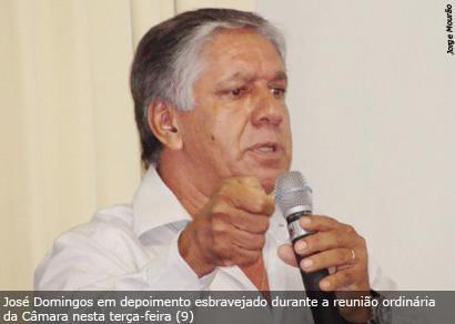 José Domingos critica vereadores que não têm posição definida