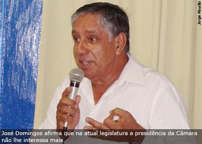 Sem clima no Legislativo, José Domingos cobra cargo na prefeitura