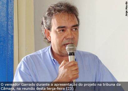 Garrado defende a permanência de 10 vereadores na Câmara