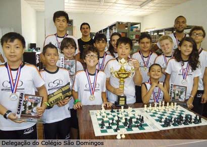 Araxá conquista sete títulos, e Colégio São Domingos é campeão mineiro de xadrez