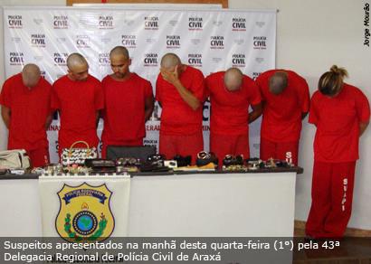 Polícia Civil de Araxá apresenta oito acusados de assaltos a ônibus