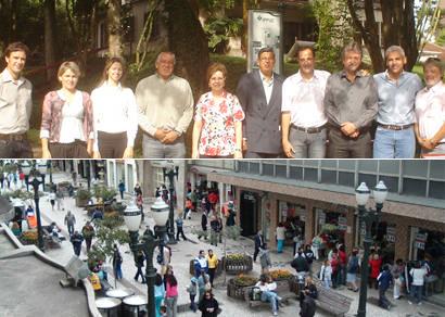 Comitiva araxaense conhece projeto do famoso calçadão de Curitiba