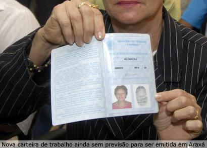 Emissão da carteira de trabalho será suspensa em Araxá