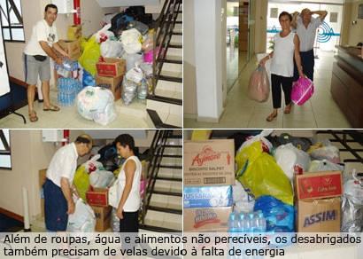 Doações às vitimas das chuvas no Rio não param chegar aos postos de coleta em Araxá