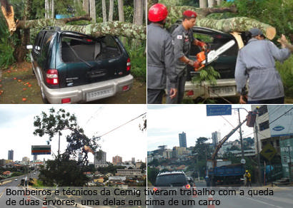 Chuva causa estragos em Araxá