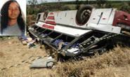 Mulher morre em acidente de ônibus com mais de 60 pessoas