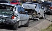 PM registra acidente envolvendo quatro veículos