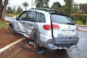 Carro na contra mão provoca acidente próximo ao Barreiro
