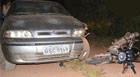 Acidente na zona rural deixa pai e filho feridos