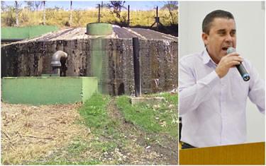 Sargento Amilton denuncia vazamento de esgoto na estação do Barreiro