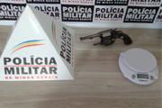 PM apreende revólver e balança de precisão no bairro Santa Luzia