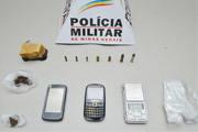 Autor preso com crack e munições de diversos calibres