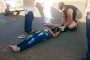 Jovem é atropelada no cruzamento da Getúlio Vargas com a Senador Montandon
