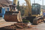 Prefeitura inicia a retirada do asfalto e canteiro central da av. Senador Montandon