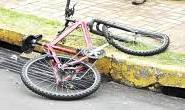 Bombeiros socorrem ciclista vítima de acidente de trânsito