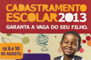Cadastramento Escolar 2013