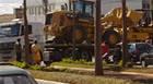 Caminhão reboque congestiona avenida da Imbiara