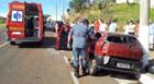 Jovem fica ferida em capotamento na avenida Danilo Cunha
