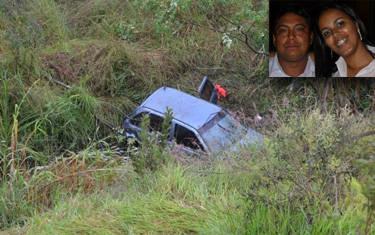 Casal morre após acidente na MG-428
