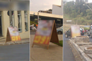Candidatos petistas descumprem legislação local e espalham cavaletes pela cidade