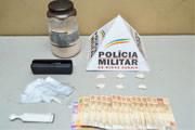 PM apreende mais de 1 kg de cocaína em Araxá