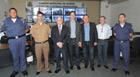 Representantes da segurança pública de Araxá visitam centros de monitoramento de Vinhedo e Jundiaí