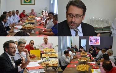Vereadores e lideranças políticas se reúnem com cônsul da Espanha