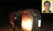 Jovem morre em acidente na zona rural após capotamento