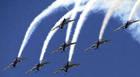Aeroclube de Araxá recebe aviões da Esquadrilha da Fumaça