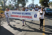 Passeata é realizada na 14ª Semana da Pessoa com Deficiência