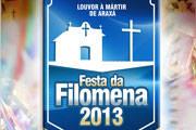 Festa da Filomena terá shows musicais e folias da região