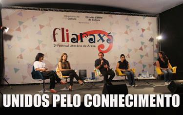 2° Fliaraxá promove viagem a literatura com grandes escritores